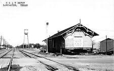 Lancaster Texas Mk&T Depot Real Photo Reproduction Postcard V5899