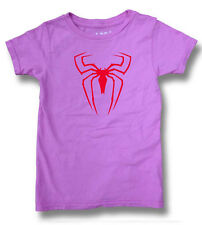 NW YOUTH KID GIRL BOY HALLOWEEN SPIDER COBWEB FUNNY COTTON WASHED CUSTOM T-SHIRT