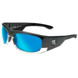 Salt Life CAPTIVA Men's Sport Sunglasses ~ Gloss Black/Smoke Blue Lens BRAND NEW