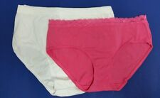 Hanes Size 6 Lot 3 Styles Hipster 1 - Bikini in Pink & 2 Hipster in White NEW