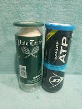Vintage Polo Ralph Lauren Tennis Balls Off White & Modern Dunlop Atp sealed cans