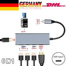 USB-Typ C Hub 6 in1 USB 3.1 Gen1 Typ C Zu 4K HDMI HD Adapter Hub SD TF Video DHL