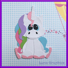MAGICAL UNICORN Paper Piecing card making & scrapbooking NOT FOR RESALE