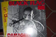 Black Flag signed Damaged LP autographed by ALL 5 Originalmeb.-Henry Rollins.