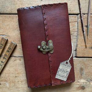 "9"" Handmade Leather Antique Vintage Journal Sketchbook Diary Scrapbook Notebook"
