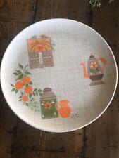 "Set Of 4 Lenox Ware Plates 10"" Americana Teapot Pattern"