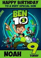 personalised birthday card Ben 10 inspired any name/age/relation.