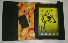 Genuine Black  Leather with Felt Fiber Pouch Sleeve Case For iPad Tablet