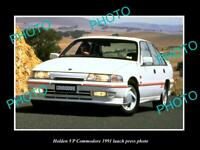 OLD POSTCARD SIZE PHOTO OF GMH 1991 VP HOLDEN COMMODORE LAUNCH PRESS PHOTO