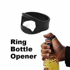 Finger Ring Bottle Opener Beer Bar Tools Stainless Steel Black Ring Metal Tools