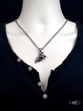 Señoras Hombres Unisex Colgante Collar con arma del tatuaje Estilo Gótico Collar Colgante