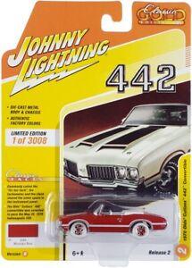 Chase 1970 OLDSMOBILE CUTLASS 442 1/64 DIECAST JOHNNY LIGHTNING JLSP102 B