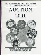 "2001 CASINO CHIP AUCTION CATALOG CC&GTCC CCA  GAMBLING ""POKER CHIP"""