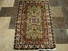 Green Ivory Touch Rectangle Area Rugs Hand Knotted Wool Silk Carpet (4 x 2.6)'