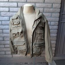 Tactical Military Casual Duty Jacket Mens XL Convertible Vest Chest Pockets Hood
