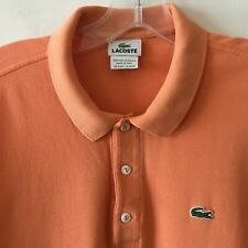 Lacoste Polo Golf Shirt 3 Button Cotton Men's Size 6 Flaw Note
