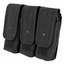 Condor MA33 Triple AR/AK Mag Pouch Holds up to 9 - 5.56 & 7.62 Mags Black
