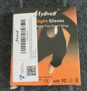 Mylivell LED Flashlight Glove Outdoor Fishing Gloves with Stretchy Strap - NEW