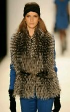 Michael Kors Silver Fox fur Vest NWOT Medium