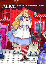Alice In Wonderland Paper Doll Greeting Card by Basia Koenig