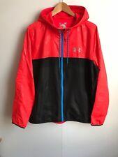 Under Armour UA Men's Lightweight Windbreaker Jacket - Large - Red/Black - New