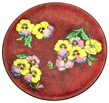c1960 very large hand painted Royal Doulton plate Pansy pattern D6402