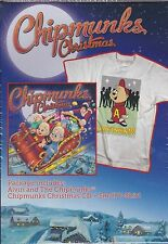 NEW Alvin and The Chipmunks Christmas CD (with Bonus T-Shirt)