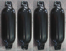 "(4) Marine Premium BLACK 5.5"" x 20"" BOAT BUMPERS Dock Fender Cushion Protection"
