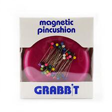 GRABBIT Raspberry Magnetic Pincushion With Ball Head Pins