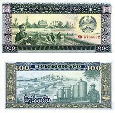 LAOS 100 Kip Banknote World Paper Money UNC Currency Pick p30a Note Bill (LAO)
