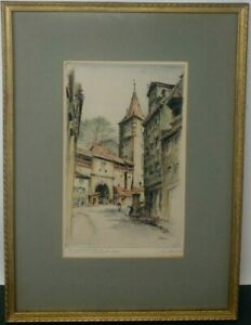 Paul Geissler Colored Etching Signed Matted Framed Newman Galleries Personalized