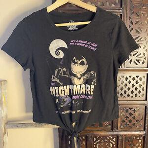 disney nightmare before christmas tie front tee t-shirt medium