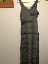 Women's sz Large Anna Joyce Gray Tie Dye Sleeveless Maxi Casual boho Dress