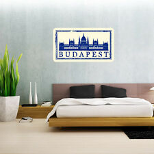 "Budapest Travel Wall Decal Large Vinyl Sticker 25"" x 14"""