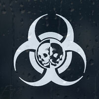 Zombie Outbreak Response Biohazard Skulls For Car Or Laptop Decal Vinyl Sticker