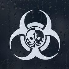 Zombie Outbreak Response Biohazard Skulls For Car Or Laptop Decal Vinyl Sticker