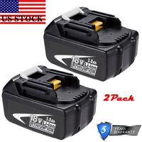 For Makita BL1830B-2 18V Li-Ion Battery 2-Pack LXT LITHIUM BL1815 BL1860 BL1840B