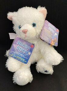 "Russ SHINING STARS PLUSH 10"" WHITE CAT STUFFED ANIMAL NWT"