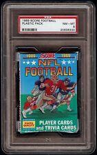 1989 Score Football Unopened Wax Pack Graded PSA 8 NM-MT Sanders Aikman Rookie?