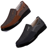 US Men Casual Shoes Leather Business Dress Formal Antiskid Loafers Driving