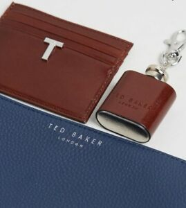 Ted Baker Hipp Set coin tray card holder & flask key ring NWT