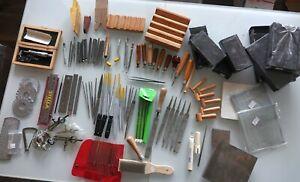 metalsmith tools GLARDON VALLORBE grobet files charcoal block anvil draw plate