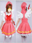 NEW Cardcaptor Sakura Angel Dress Uniform Made Cosplay Costume