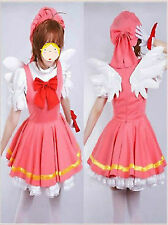 Cardcaptor Sakura Angel Dress Uniform Made Cosplay Costume