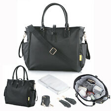 0d57efde9947 Allis Baby Changing Bag Nappy Diaper Bag Mummy Hospital Bag - Kelly Black
