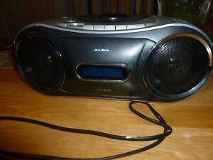 ALBA CXDAB202 Stereo CD Radio Cassette Tape Recorder silver