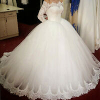 A-Line Lace Luxury Wedding Dresses for Bride Bridal Gowns Ball Dress Custom Made
