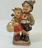 Hummel Like Vintage Figurines Boy Girl porcelain nice