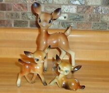 Vintage Set Of 3 Spotted Deer/Fawn Bambi Christmas Decor Plastic