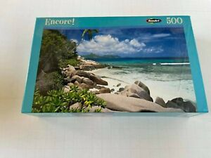 Encore!  RoseArt Puzzle Tropical Island Beach 500 Pieces No. 06052